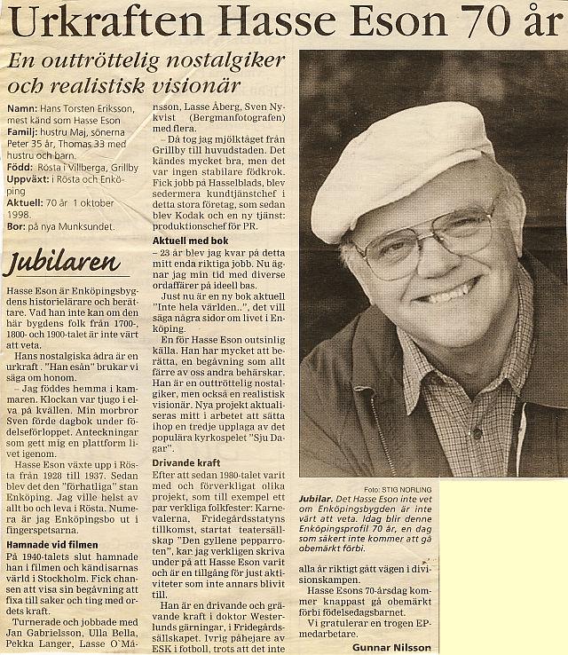 Namn och nytt idag 1997 05 29